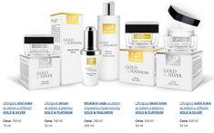 Zlato-stříbrno-platinová kosmetika Gold Platinum, Makeup, Silver, Maquiagem, Maquillaje, Face Makeup, Make Up, Money
