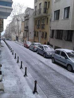 Snow in Nemlizade Street Kadiköy on 7 January 2014 :) True Stories, January, Snow, Street, Outdoor, Outdoors, Outdoor Games, The Great Outdoors, Walkway