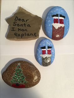 Start of my Christmas rocks.