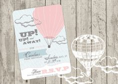 Hot Air Balloon Invite by jaynesalentiny on Etsy, http://www.etsy.com/listing/92929871/hot-air-balloon-invite