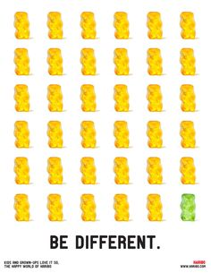 Haribo be different