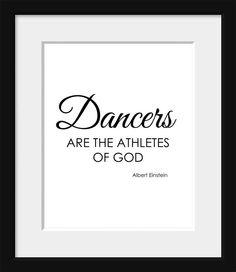 Typography Dance Print Albert Einstein Quote by printdesignstudio, $18.00