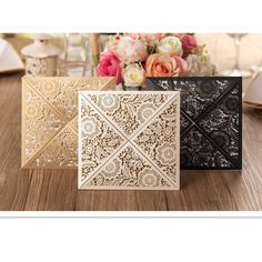 Cheap laser cutting invitation card, Buy Quality invitation card directly from China invitation card design Suppliers: 12sets Design Rustic Gold beige Wedding Invitations Laser Cut Invitation Cards With Insert Paper Blank Card Envelope