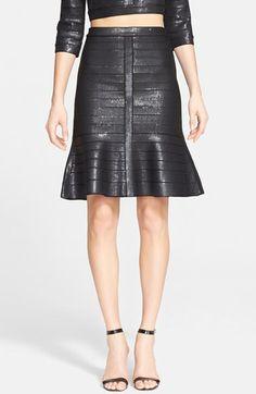 Herve+Leger+'Kristyna'+Sequin+Bandage+Flared+Skirt+available+at+#Nordstrom