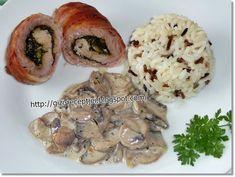 medvehagymás sajtos hústekercs Food Network, Healthy Cooking, Baked Potato, Bacon, Potatoes, Chicken, Ethnic Recipes, Drink Recipes, Potato