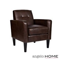 angelo:HOME Wooster Renu leather arm chair