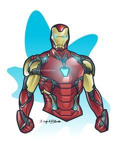 Iron Man Mark 85 designed by DB creations. Marvel Dc, Chibi Marvel, Iron Man 2008, Iron Man Art, Iron Man Wallpaper, Avengers Cartoon, Avengers Art, Drawing Superheroes, Marvel Drawings