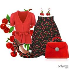 Cherry Red Fashion... I love this!! Even have a patch to match!!  :-)