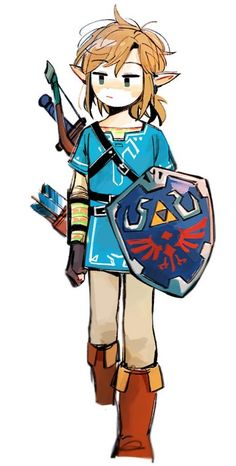 The Legend of Zelda Breath of the Wild Link Blue SuitYou can find Link zelda and more on our website.The Legend of Zelda Breath of the Wild Link Blue Suit Game Character, Character Design, Zelda Drawing, Chibi, Legend Of Zelda Breath, Zelda Legend, Botw Zelda, Link Art, Link Zelda