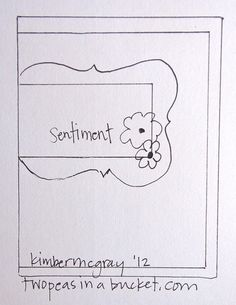 Saturday Card Sketch Challenge with Kimber 8.4.12 - Two Peas in a Bucket