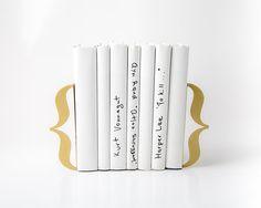 Bracket Bookends Laser Cut Gold Metal Brackets for a Mod Glamor Bookshelf // Perfect Housewarming Gift  // Free Shipping Worldwide