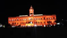 The #RiponBuilding, #Chennai, built in memory of #LordRipon in the early part of 20th Century, was lit in saffron on 29-May-2018 (Wed) [reason unknown]. It is now seat of the #GreaterChennai Corporation.