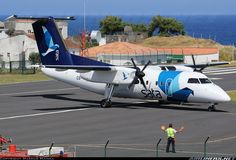 SATA Air Acores More: De Havilland Canada DHC-8-202Q Dash 8 	 More: Corvo / Azores (CVU / LPCR) More: Portugal, July 17, 2013 Remark 	Photographer CS-TRB (cn 476) SATA is the only airline serving the small island of Corvo, Azores. There are up to two daily flights Monday to Friday to the neighboring islands of Flores (FLW), Faial (HOR) and Terceira (TER) The Beautiful Country, Beautiful Places In The World, Planes, Ellis Island, Air Space, July 17, Bus, Azores, Aircraft Pictures