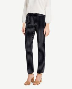 #Ann Taylor - #Ann Taylor Ann Taylor The Ankle Pant in Stripes - Kate Fit - AdoreWe.com