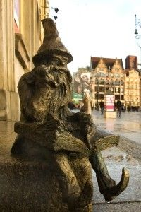 Wrocław, Poland where there are more than 100 gnome statues scattered throughout town.