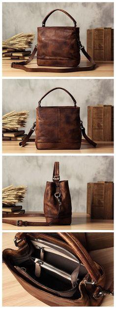 Handmade Leather Messenger Bag Handbag Shoulder Bag Small Satchel Women's Fashion Bag WF01 Overview: Design: Vintage Vegetable Tanned Leather Messenger In Stock: 4-5 days For Making Include: Only Mess