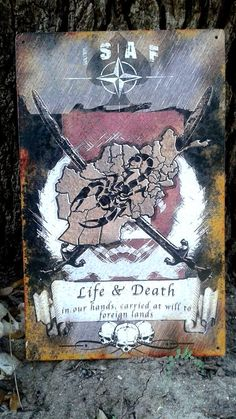 Life and Death (OEF) – ZERO FOXTROT Vintage Metal Signs, Life And Death
