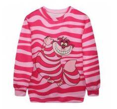Jersey chica Cheshire. Alicia en el país de las Maravillas. Disney Llamativo jersey, en talla única, como una sudadera, inspirado en el cuento y película Alicia en el país de las Maravillas.
