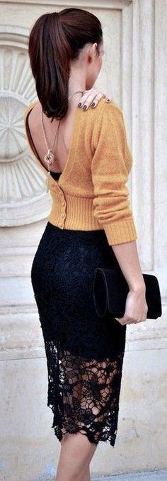 elegante falda tubo Más
