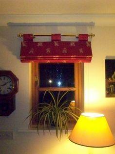 Roman blinds on poles