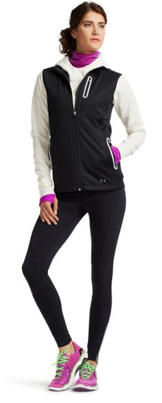 Women's ColdGear Infrared Vest & Women's Printed UA Fly-By Turtleneck