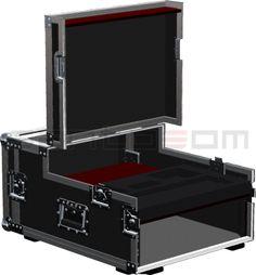 "Flightcase, Video Production Mixer+LCD+19"" 3U | Santosom"