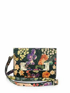 Sophie Hulme dark floral mini bag