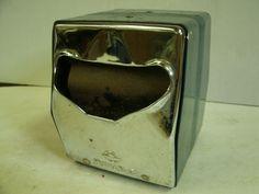 Vintage Metal double sided Napkin Holder / Dispenser - green. $11.99, via Etsy.