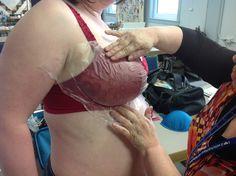 Cloning a bra with kitchen supplies!! Brilliant!