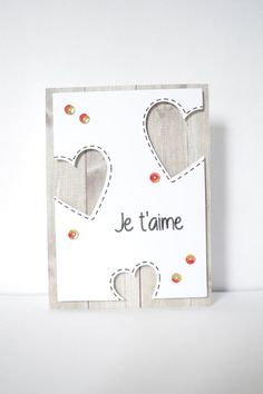 "Card ""I love you"", for Valentine's Day: Cards by lilieluna Valentine Day Cards, Valentines Diy, Love Cards, Diy Cards, Origami Cards, Diy Invitations, Card Tags, Scrapbook Cards, Homemade Cards"