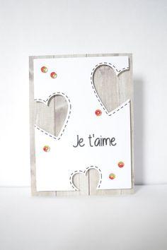 """Carte """"Je t'aime"""", pour Saint-Valentin : Cartes par lilieluna"""