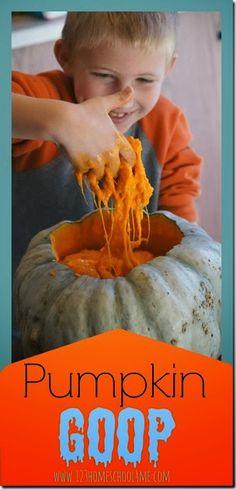Pumpkin Goop - A Natural Sensory Kids Activity for Fall #play #sensory #preschool #fallactivitiesforkids