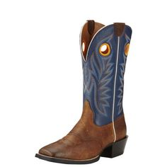 Men's Sport Outrider Western Boots in Pinecone Leather, Size 12 EE / Wide by Ariat Duck Boots, Cowboy Boots, Ariat Mens Boots, Western Boots For Men, Western Cowboy, Doc Martens Boots, Mens Bootcut Jeans, Shoe Sites, Square Toe Boots