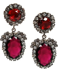 Red - Ruby & Diamond Earrings