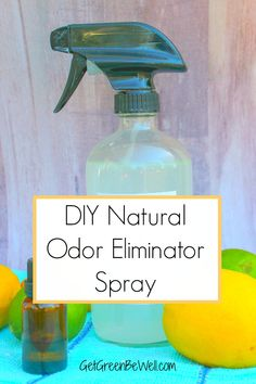 odor eliminator spray bottle with lemons and limes and essential oil Natural Home Remedies, Natural Healing, Herbal Remedies, Cold Remedies, Bloating Remedies, Natural Oil, Pet Odor Eliminator, Odor Remover, Dog Urine Remover