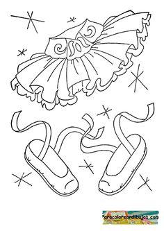 traje de bailarina para colorear