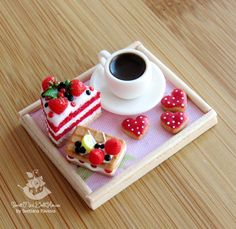 Miniature tray for dolls and doll houses. от SweetMiniDollHouse