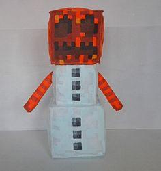 Peluche grande de Minecraft de Gólem de Nieve / Big Minecraft Snow Golem plush Minecraft Teddy, Creepers, Stuffed Toys, Stuffed Animals, Lego, Projects To Try, Plush, Snow, Etsy