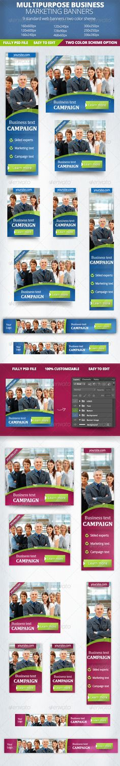 Business Marketing Web Banner Template PSD | Buy and Download: http://graphicriver.net/item/business-marketing-banner/4770226?WT.ac=category_thumb&WT.z_author=zokamaric&ref=ksioks