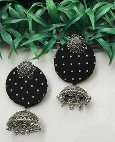 This item is unavailable Diy Jewelry Set, Diy Fabric Jewellery, Jewelry Design Earrings, Diy Crafts Jewelry, Handmade Beaded Jewelry, Handmade Jewelry Designs, Silk Thread Earrings Designs, Silk Thread Bangles Design, Fabric Earrings