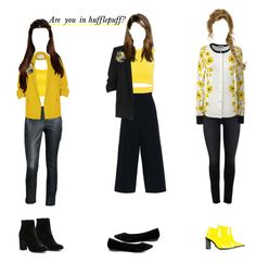 """""""Are you in hufflepuff ?"""" by ann-fate ❤ liked on Polyvore featuring KaufmanFranco, STELLA McCARTNEY, WearAll, Sans Souci, River Island, Lands' End, Marques'Almeida, Witchery and Breckelle's"""