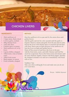 Chicken Liver Recipes, Meat Recipes, Indian Food Recipes, Real Food Recipes, Group Recipes, Cooking Recipes, Healthy Recipes, Avocado Egg Recipes, Magic Cake Recipes
