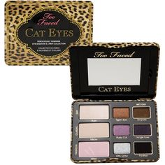 Too Faced Cat Eyes Ferociously Feminine Eye Shadow & Liner Collection... ($36) ❤ liked on Polyvore featuring beauty products, makeup, eye makeup, eyeshadow, beauty, cosmetics, too faced cosmetics and palette eyeshadow