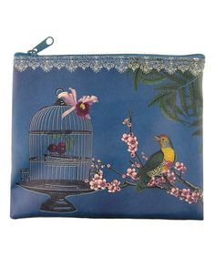 Look at this Blue Birdcage Cosmetic Bag on #zulily today!