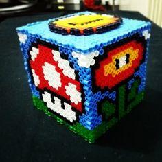Super Mario box hama beads by drakebcn