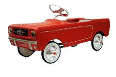 History of the Mustang Pedal Car Ride-On Toy 1965 Mustang, Mustang Gt 350, Pedal Tractor, Pedal Cars, Vw Cars, Cars Usa, Classic Mustang, Ford Mustang Shelby, Ride On Toys