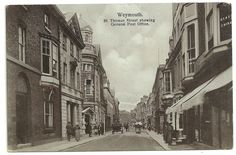 Dorset postcard Weymouth St Thomas Street showing General Post Office | eBay