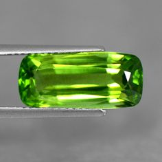 5.56 Cts Natural Top Green Peridot Loose Cushion Cut Unheated Burma Amazing Gem