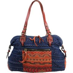 TSD Tribal Secret Tote - Orange/Navy - Totes ($69) ❤ liked on Polyvore featuring bags, handbags, tote bags, fabric handbags, orange, zipper tote, white leather tote bag, white leather handbags, leather handbags and leather zip tote