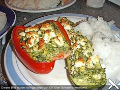 Gefüllte Paprika und Zucchini (Rezept mit Bild) von Schweinchenmama | Chefkoch.de
